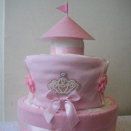 """Торт з памперсів """"Замок для принцеси"""""""