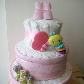 """Торт з памперсів """"Рожевий Метелик"""""""