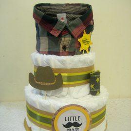 """Торт з памперсів """"Маленький Sheriff"""""""
