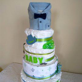 """Тортик з памперсів """"Baby boss"""""""